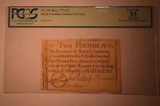 North Carolina December, 1771 £2 PCGS Apparent Very Fine 35.