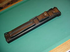 BEAUTIFUL BLACK LEATHER 3X6 CUE CASE SAVE $$ pool billiards 02-4762-15