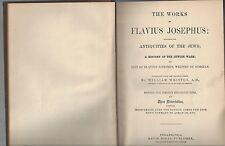 The works of josephus antiquities jews & jewish wars ws whistion 1878 mckay hc