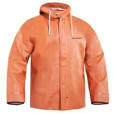 Grundens Brigg 40 Hooded Jacket-Fishing Raingear- Orange- Pick Size