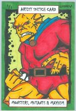 """ETRIGAN - The DEMON"" AUTHENTIC HAND-DRAWN 1/1 SKETCH CARD/ 1 OF 1 /ACEO/By CARY"