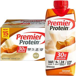 Premier Protein High Protein Shake, Caramel (11oz, 15 pk.)
