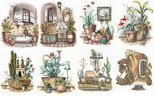 Ceramic Decals Adobe Southwest Home Cactus Scenes