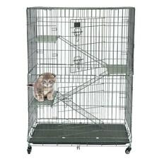 New Dog Carriers Large Fold Pet Cat Wire Cage Indoor Outdoor Playpen Silver