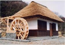 Japanese Traditional House Plan WATER WHEEL HOUSE Drawing Detail Shrine Temple