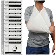 Steroplast Triangular Calico Cotton Shoulder Arm Sling Support Bandage 12 Pack