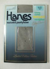 VINTAGE HANES PANTYHOSE LIMITED EDITION TEXTURE JET #977 SHEER SWISS DOT SZ C