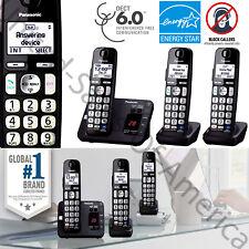 Cordless Phone System 3 Handsets Answer Machine Call Block Panasonic KX-TGE233B