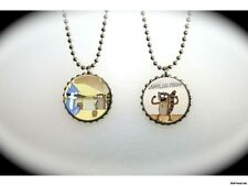 Regular Show Mordecai and Rigby set B -  2 sided necklace