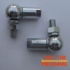 2 x 13mm Ball & Socket Joint M8 boot bonnet damper strut gear linkage - F2