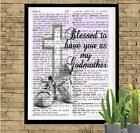 Blessed to Have You as my Godmother Dictionary Art Print Unique Handmade Gift