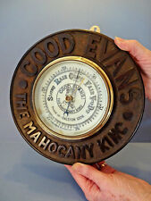 """1920s ADVERTISING ANEROID BAROMETER,""""DALSTON"""" THE MAHOGANY KING """"GOOD EVENS"""""""
