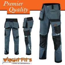 WrightFits Mens Cargo Work Trousers Combat Workwear Pants With Cargo Pockets DHG