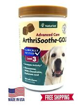 New listing NaturVet ArthriSoothe-Gold Advanced Level 3 180 Chews Free Shipping