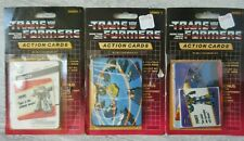3 Vintage Sets 1985 Transformers Action Cards Series 1 with Packaging