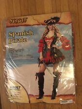 SPIRIT WOMEN HALLOWEEN SPANISH PIRATE COSTUME MEDIUM EUC