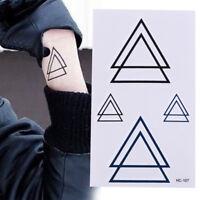 New Design Geometry Tattoo Removable Waterproof Stickers Diy Body Art Tattoo_FR