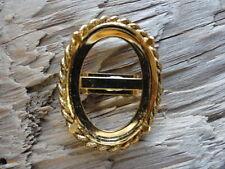 Bolo Slide Bright Gold Braided 22x30mm Prong Bezel 0143 (pkg 3)