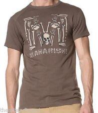 MAHARISHI London 'Cavalera' Men's Designer Skull Print T-Shirt 2XL Brown *NWT*