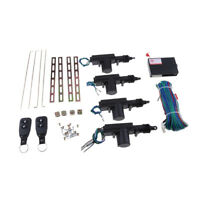 Car Central Locking System Keyless Entry w/ 4 Power Door Lock Actuator Kit