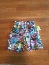 NWT Gap Kids Boys Plaid Madras Bathing Suit - Size XS 4-5