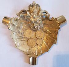 Bronze Antique Vintage Devil Satyr Satan Cards Coins Poker Gambling Ash Tray