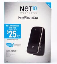 Net 10 Alcatel One Touch A206G Prepaid Flip Phone BRAND NEW SEALED IN BOX