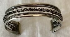 Vintage Pachuca Mexico Sterling Cuff .925 Braid Rope Unisex Design 22 Grams