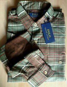 Superbe chemise flanelle écossaise homme Ralph Lauren Taille M Neuf 100%