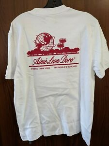Mens Aime Leon Dore unisphere t shirt L Large NEW NWT Red white Cotton
