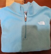 The North Face Fleece Pullover Halfzip Girls Large 14/16 Turquoise