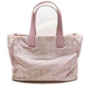 CHANEL Tote Bag New Travel Line Pinks Nylon 1133123
