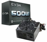 New! EVGA - 80 PLUS 600W ATX 12V/EPS 12V Power Supply - Black - 600 watt