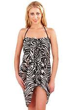 Mujer Cebra Sarong Boutique Mujer Verano Envuelva Chifón Protector Playa Pareo