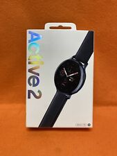 Verizon, Samsung Galaxy Watch Active 2 SM-R825 44mm Stainless Steel Case Leather