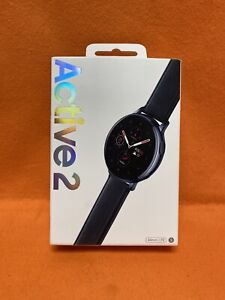 Verizon, Samsung Galaxy Watch Active 2 SM-R825 44mm Stainless Steel Case Leather