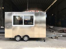BN 3MX1.8M Stainless Steel Concession Stand Trailer Mobile Kitchen Ship By Sea