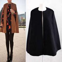 Ladies Women  Warm Batwing Wool Poncho Winter Coat Jacket Loose Cloak Cape Parka