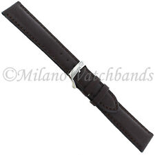 Padded Stitched Mens Watch Band 4337 18mm Morellato Brown Rubber Genuine Leather