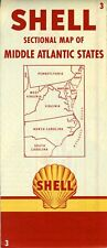 1952 Shell Road Map: Middle Atlantic States NOS