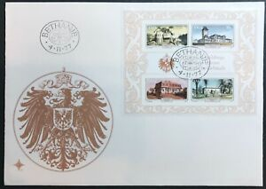 SOUTH WEST AFRICA 1977 HISTORIC HOUSES MINISHEET ON FIRST DAY COVER