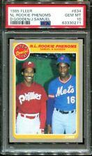 1985 FLEER #634 DWIGHT GOODEN RC NL ROOKIE PHENOMS PSA 10 B3115429-271