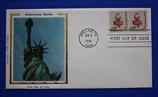 """United States (1816) 1981 Statue of Liberty Torch Colorano """"Silk"""" FDC"""