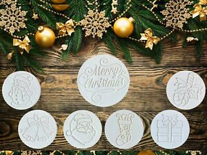 Merry Christmas Cookie Fondant Embosser Stamp Cutter