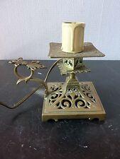 Lampe Bougeoir Bronze Sculpté Style LOUIS XIV - XIXeme
