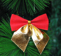 12pcs Bowknot Xmas Tree Ornament Bow Hanging Decoration Christmas Gift Decor New