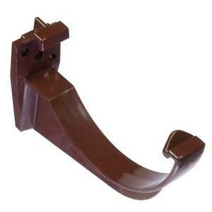 Round Fascia Bracket 112mm Brown Gutter / Guttering Fixing Clip RK1 | Floplast