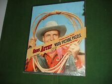"1950 Gene Autry Frame Tray Puzzle w/Original Cello, Puzzle Is Nice, 9""X11"""