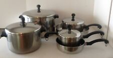 Vintage Farberware Classic 10-Pc Cookware Stainless Steel Alum Clad Made in USA