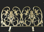 Vintage Single Panel French Inspired Brass Finish Cast Iron Fireplace Screen